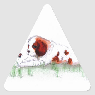 Cavalier King Charles Spaniel  puppy CKC Triangle Sticker