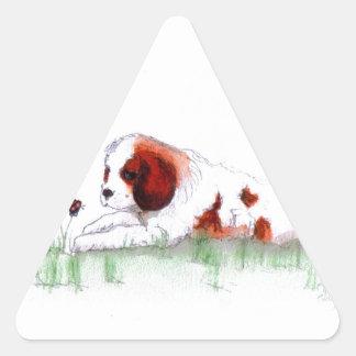 Cavalier King Charles Spaniel  puppy CKC Triangle Sticker