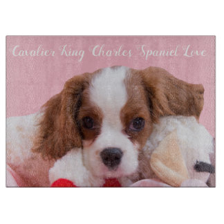 Cavalier King Charles Spaniel Puppy Cutting Board