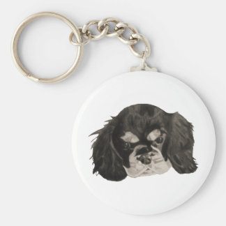 Cavalier King Charles Spaniel Puppy Key Chain