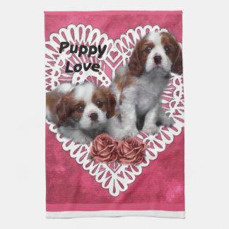 Cavalier King Charles Spaniel Puppy Love Towel