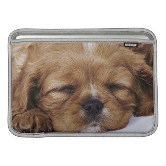 Cavalier King Charles Spaniel puppy sleeping Sleeves For MacBook Air