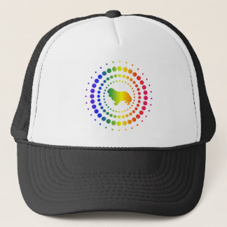 Cavalier King Charles Spaniel Rainbow Studs Trucker Hat