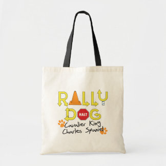 Cavalier King Charles Spaniel Rally Dog Budget Tote Bag
