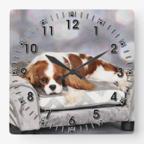 Cavalier King Charles Spaniel - Remington Square Wall Clock