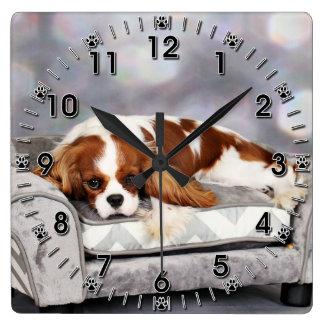 Cavalier King Charles Spaniel - Remington Square Wall Clock