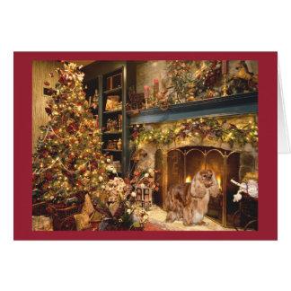 Cavalier King Charles Spaniel Ruby Christmas Card