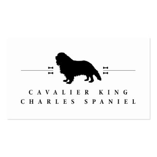 Cavalier King Charles Spaniel silhouette -1- Double-Sided Standard Business Cards (Pack Of 100)