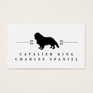 Cavalier King Charles Spaniel silhouette -1- Business Card