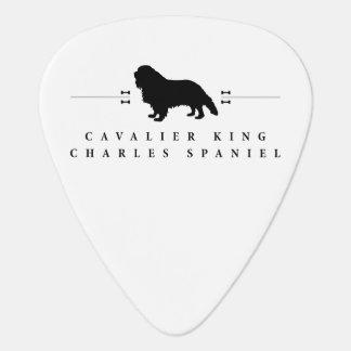 Cavalier King Charles Spaniel silhouette -1- Guitar Pick