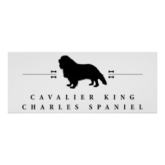 Cavalier King Charles Spaniel silhouette -1- Poster