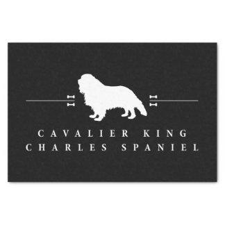 "Cavalier King Charles Spaniel silhouette -2- 10"" X 15"" Tissue Paper"