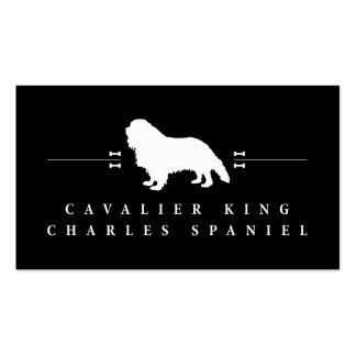 Cavalier King Charles Spaniel silhouette -2- Double-Sided Standard Business Cards (Pack Of 100)