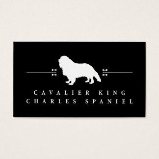 Cavalier King Charles Spaniel silhouette -2- Business Card