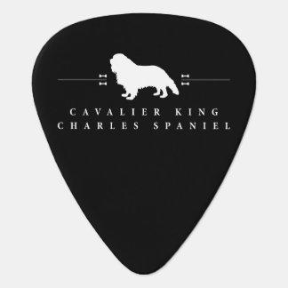 Cavalier King Charles Spaniel silhouette -2- Guitar Pick
