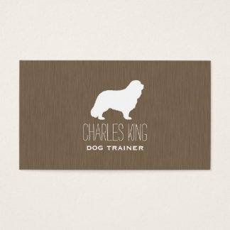 Cavalier King Charles Spaniel Silhouette Business Card
