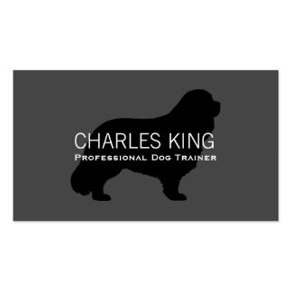 Cavalier King Charles Spaniel Silhouette Double-Sided Standard Business Cards (Pack Of 100)