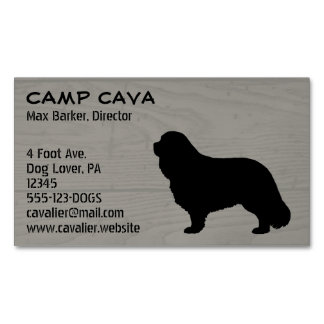 Cavalier King Charles Spaniel Silhouette Magnetic Business Cards (Pack Of 25)