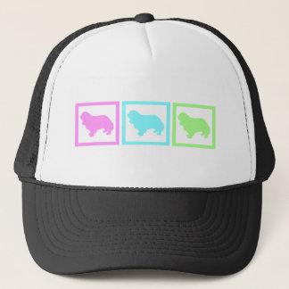 Cavalier King Charles Spaniel Squares Trucker Hat