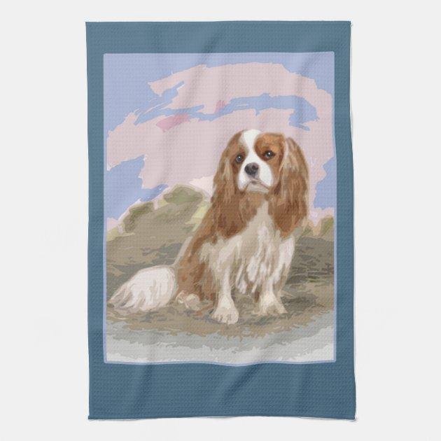 Cavalier King Charles Spaniel Kitchen//Tea Towel