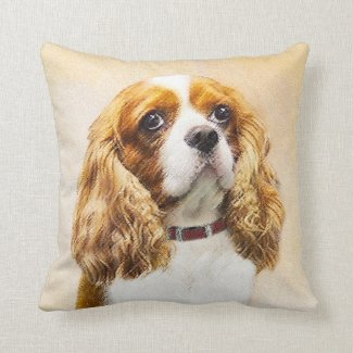 Cavalier King Charles Spaniel Throw Pillow