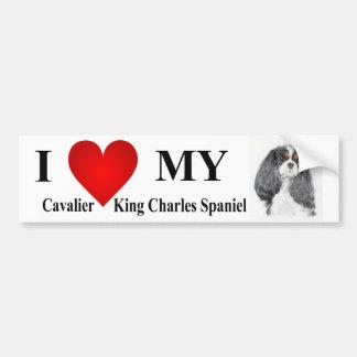 Cavalier King Charles Spaniel Tri Bumper Sticker