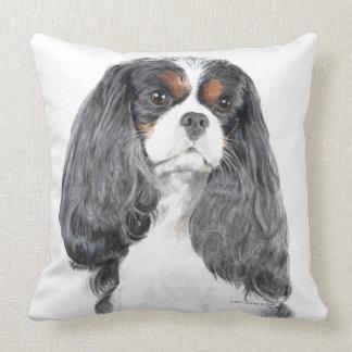 Cavalier King Charles Spaniel Tri Color Pillow