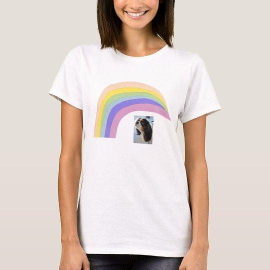 Cavalier King Charles Spaniel Tri Rainbow T-Shirt