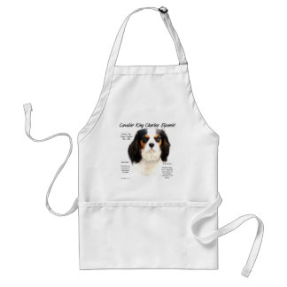 Cavalier King Charles Spaniel (tricolor) History Adult Apron