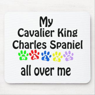 Cavalier King Charles Spaniel Walks Design Mouse Pad