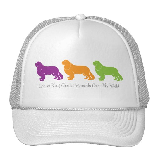 Cavalier King Charles Spaniels Color My World Trucker Hat