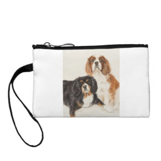 Cavalier King Charles Spaniels painting Coin Purse