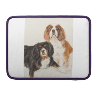 Cavalier King Charles Spaniels painting Sleeves For MacBook Pro