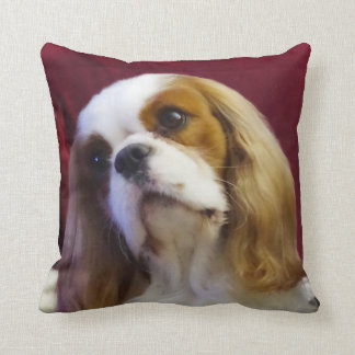 Cavalier King Charles Throw Pillow blenheim