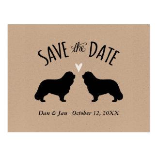 Cavalier King Charles Wedding Save the Date Postcard