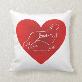 Cavalier Love Throw Pillow