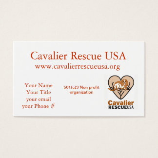 Cavalier Rescue dogs on bench Business Card