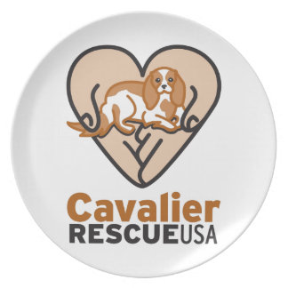 Cavalier Rescue USA Logo Dinner Plate