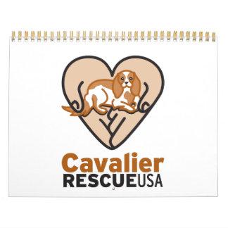 Cavalier Rescue USA Logo Calendar