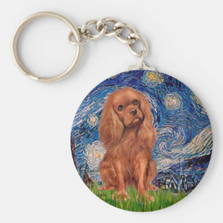 Cavalier (Ruby7) - Starry Night Keychain
