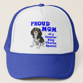 CAVALIER SPANIEL MOM TRUCKER HAT