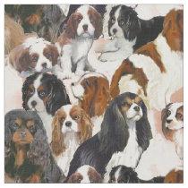 Cavalier Spaniel Mural Collage fabric