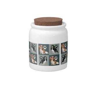 Cavalier spaniel treat jar candy jar