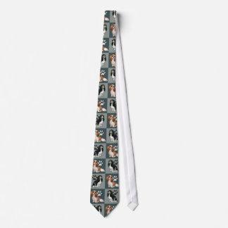 Cavalier Spaniels in Blue Tie