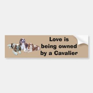 Cavalier Threesome Bumper Sticker