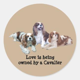 Cavalier Threesome Sticker