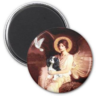 Cavalier (Tri5) - Seated Angel 2 Inch Round Magnet