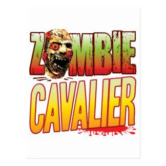 Cavalier Zombie Head Postcard