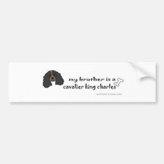 CavalierBlkTanBrother Bumper Sticker