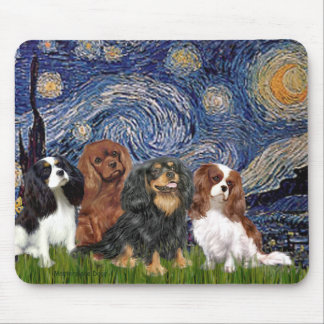 Cavaliers (3) - Starry Night Mouse Pad